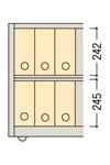 A4ボックスファイルミニ2段