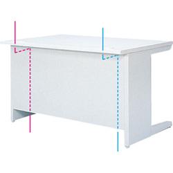 OAテーブル棚付、コードホール利用