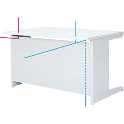 OAテーブル棚付、対向配線
